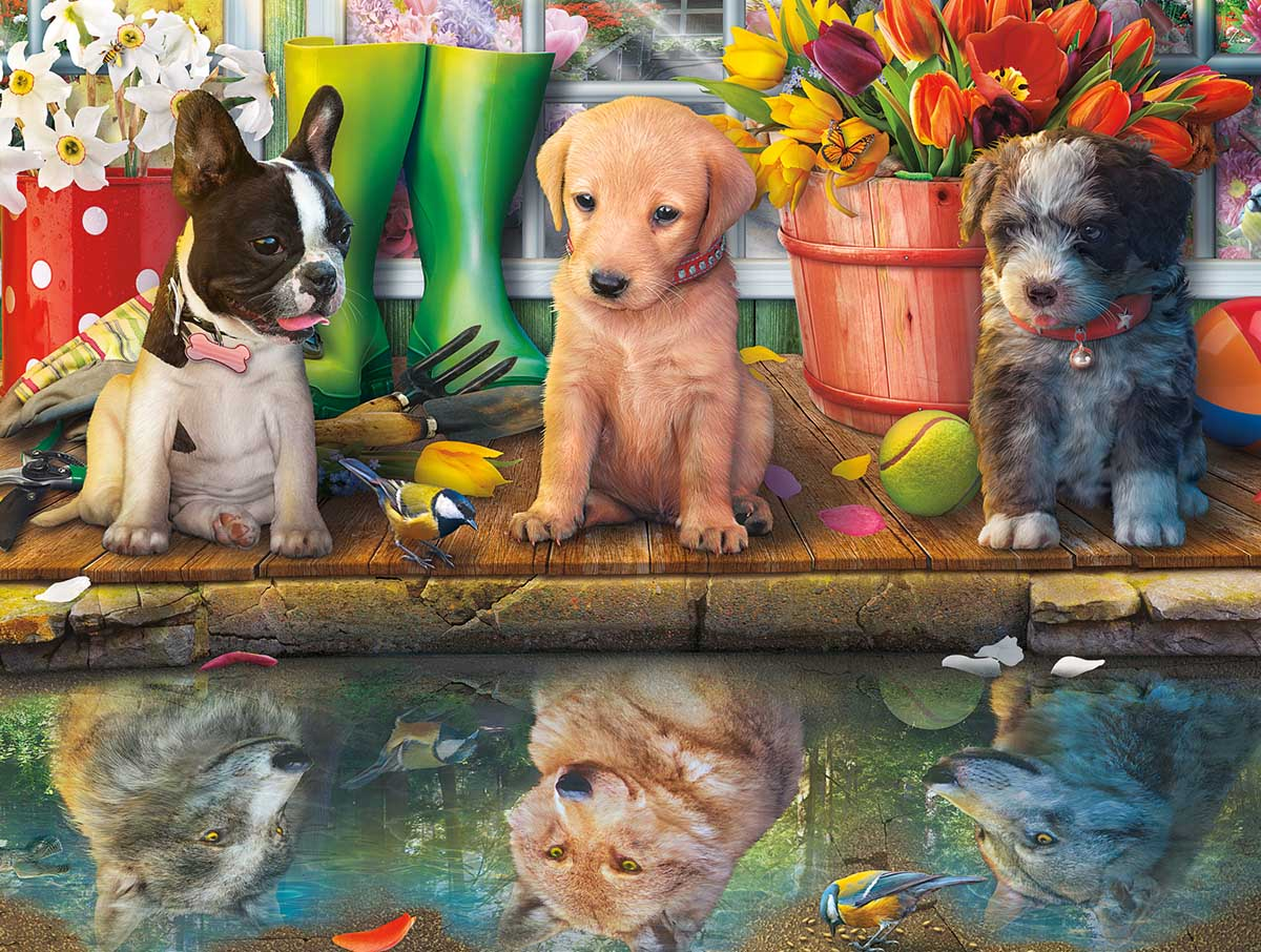 Puppy Dreams Dogs Jigsaw Puzzle