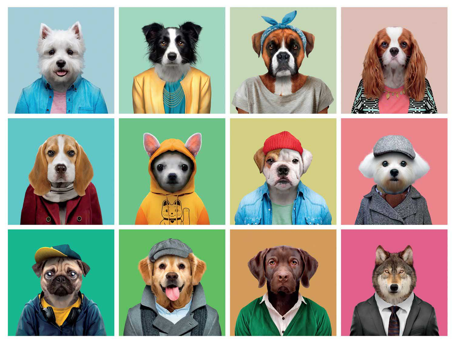Canine Collage Dogs Jigsaw Puzzle