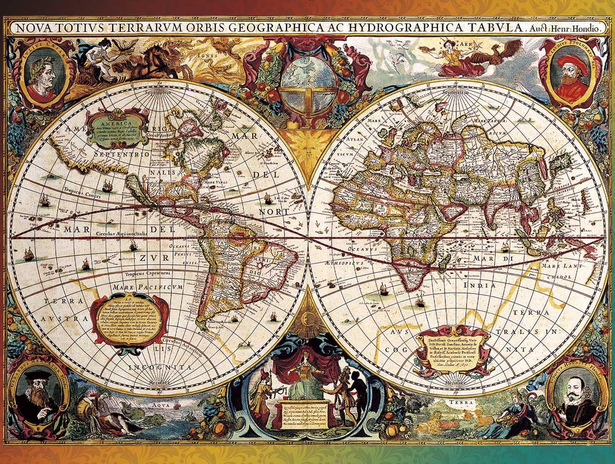 World Map, Circa 1630 Maps / Geography Jigsaw Puzzle