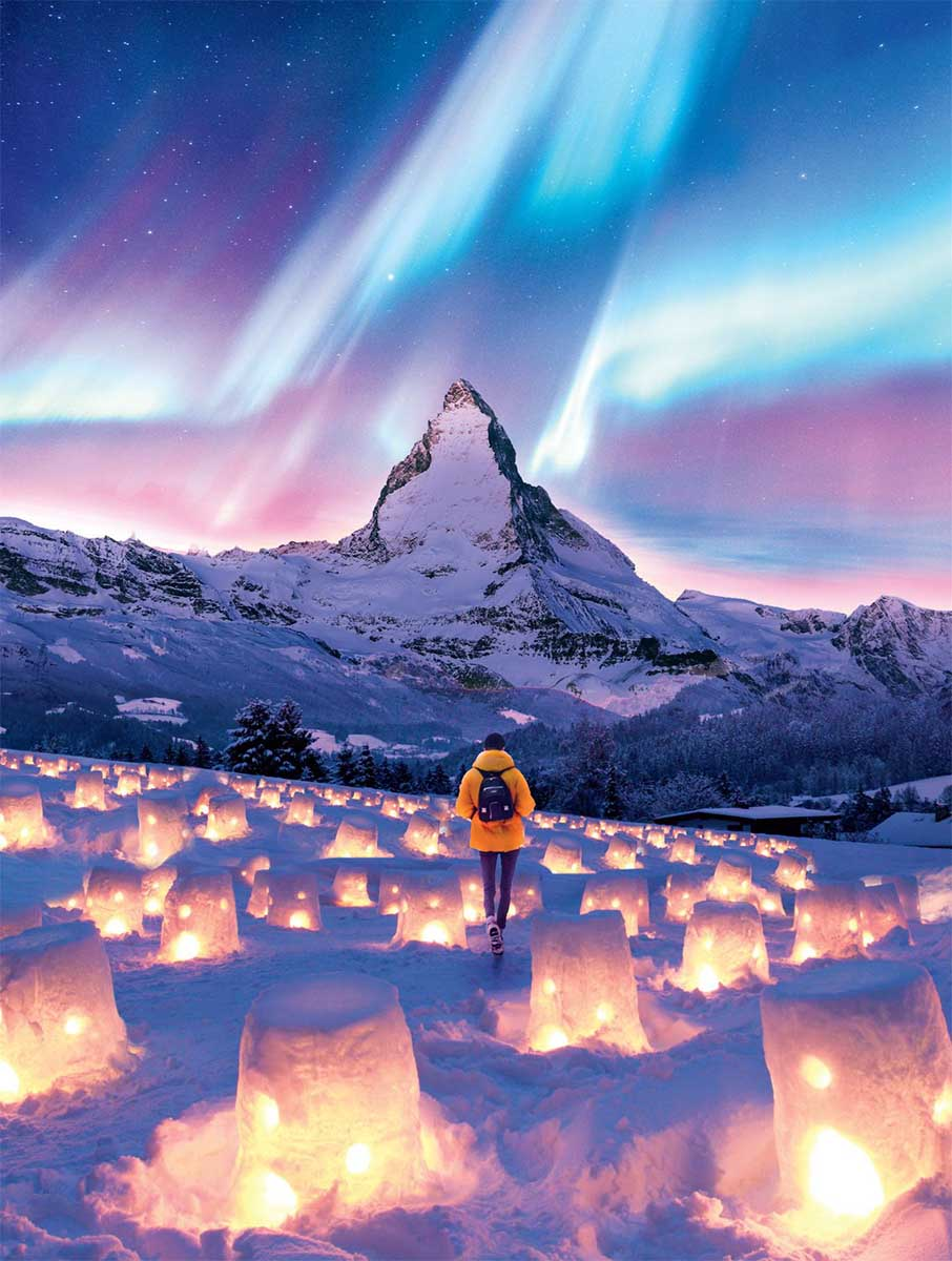 Light Your Way Mountains Jigsaw Puzzle