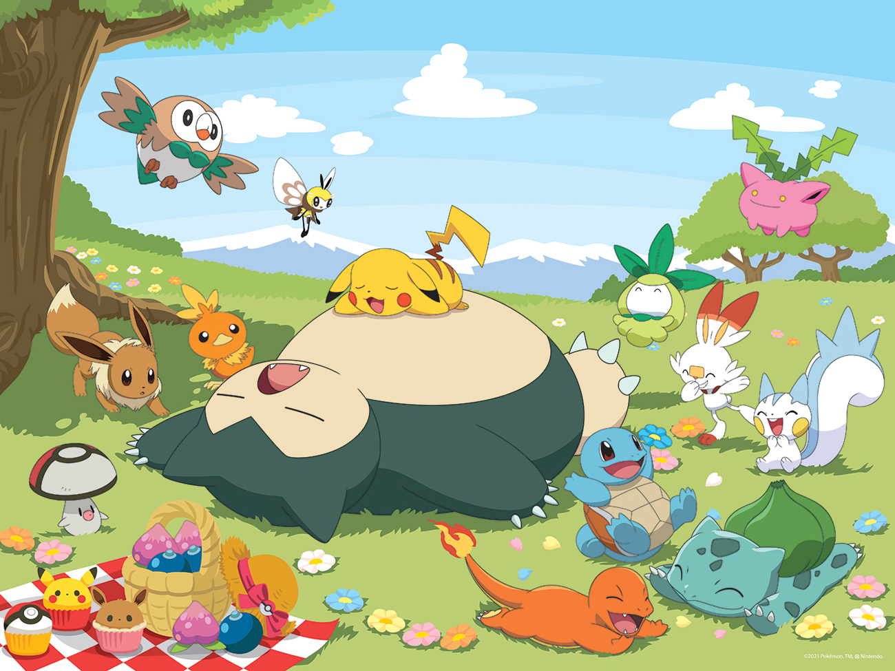 Pokemon Picnic Cartoons Jigsaw Puzzle