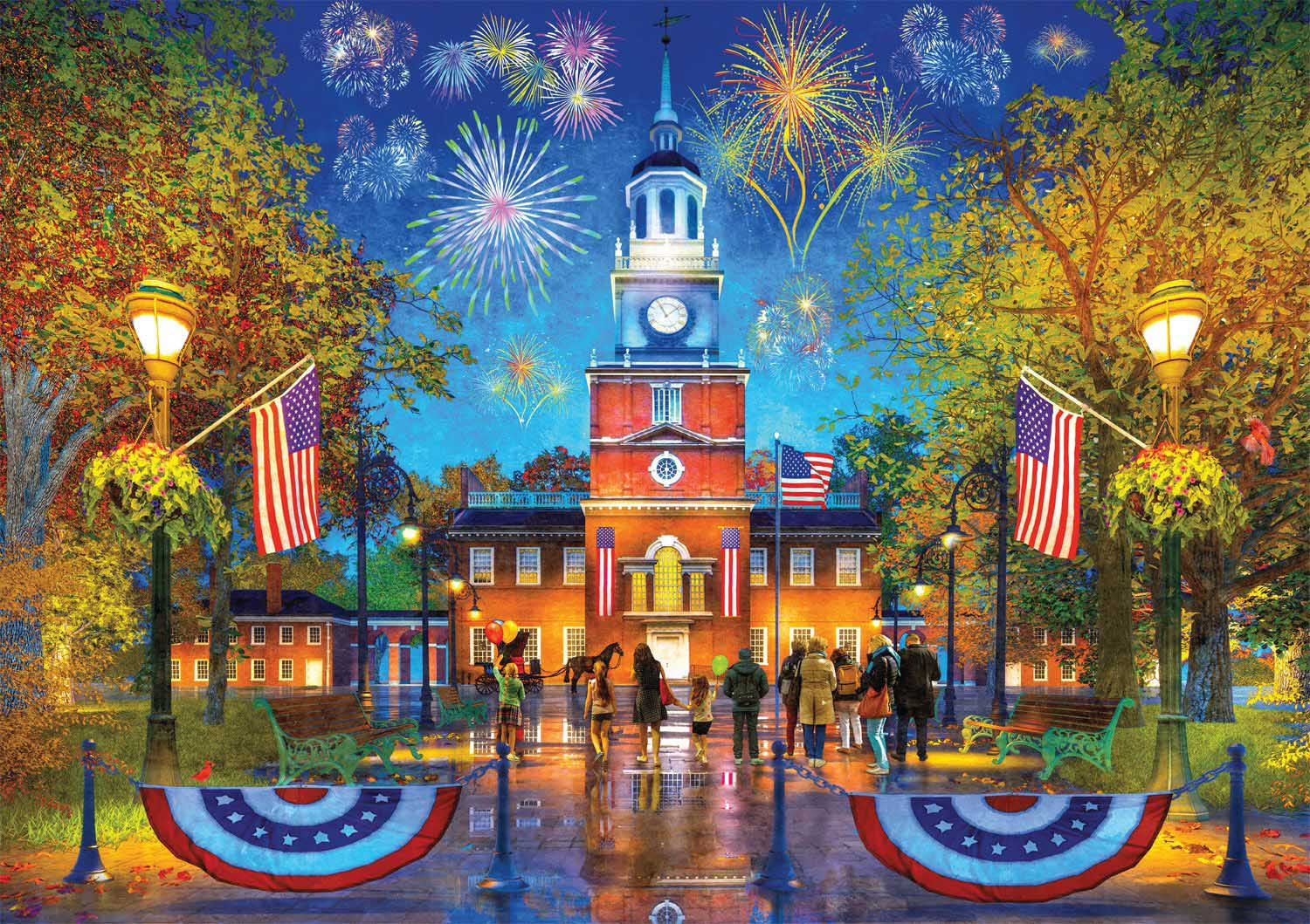 Independence Hall Fourth of July Jigsaw Puzzle