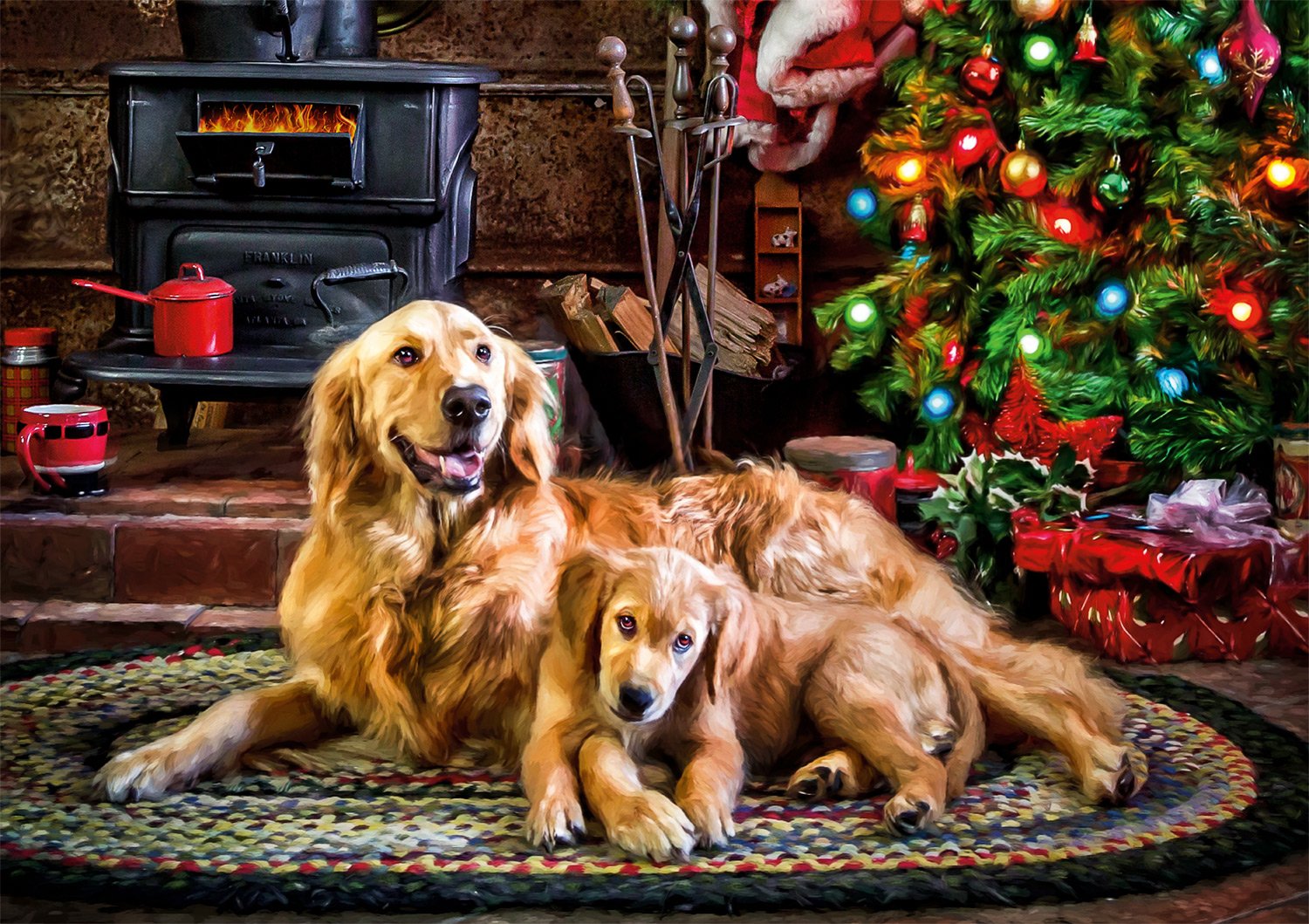 Holiday Happiness Dogs Jigsaw Puzzle