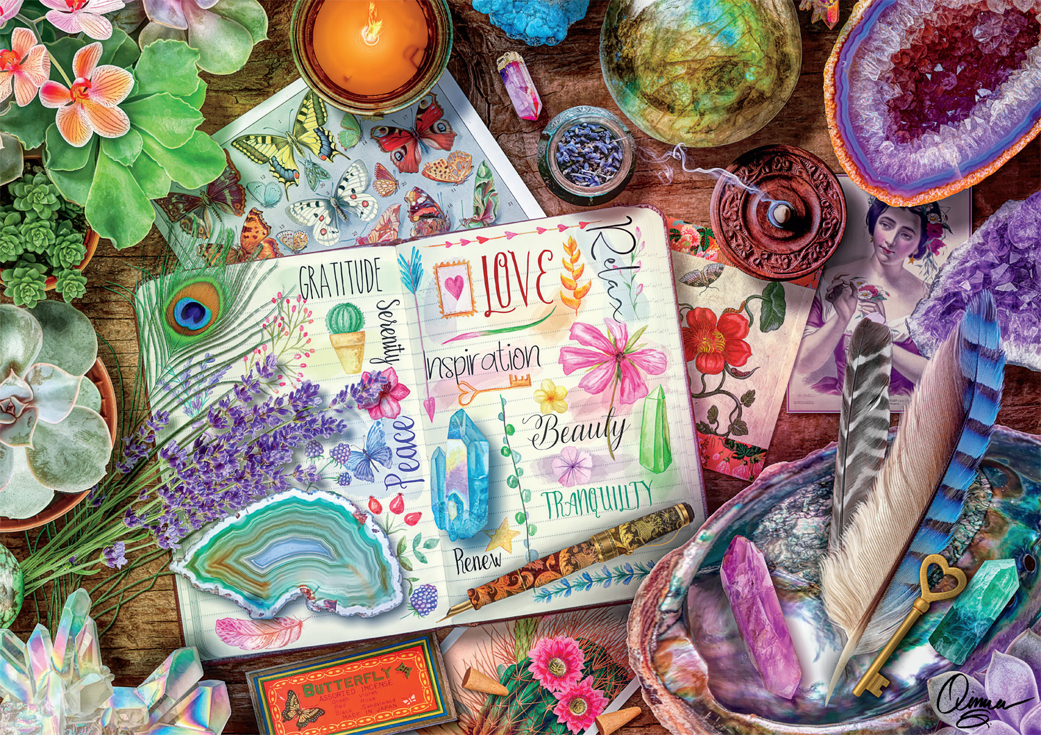 Happy Vibes Crafts & Textile Arts Jigsaw Puzzle