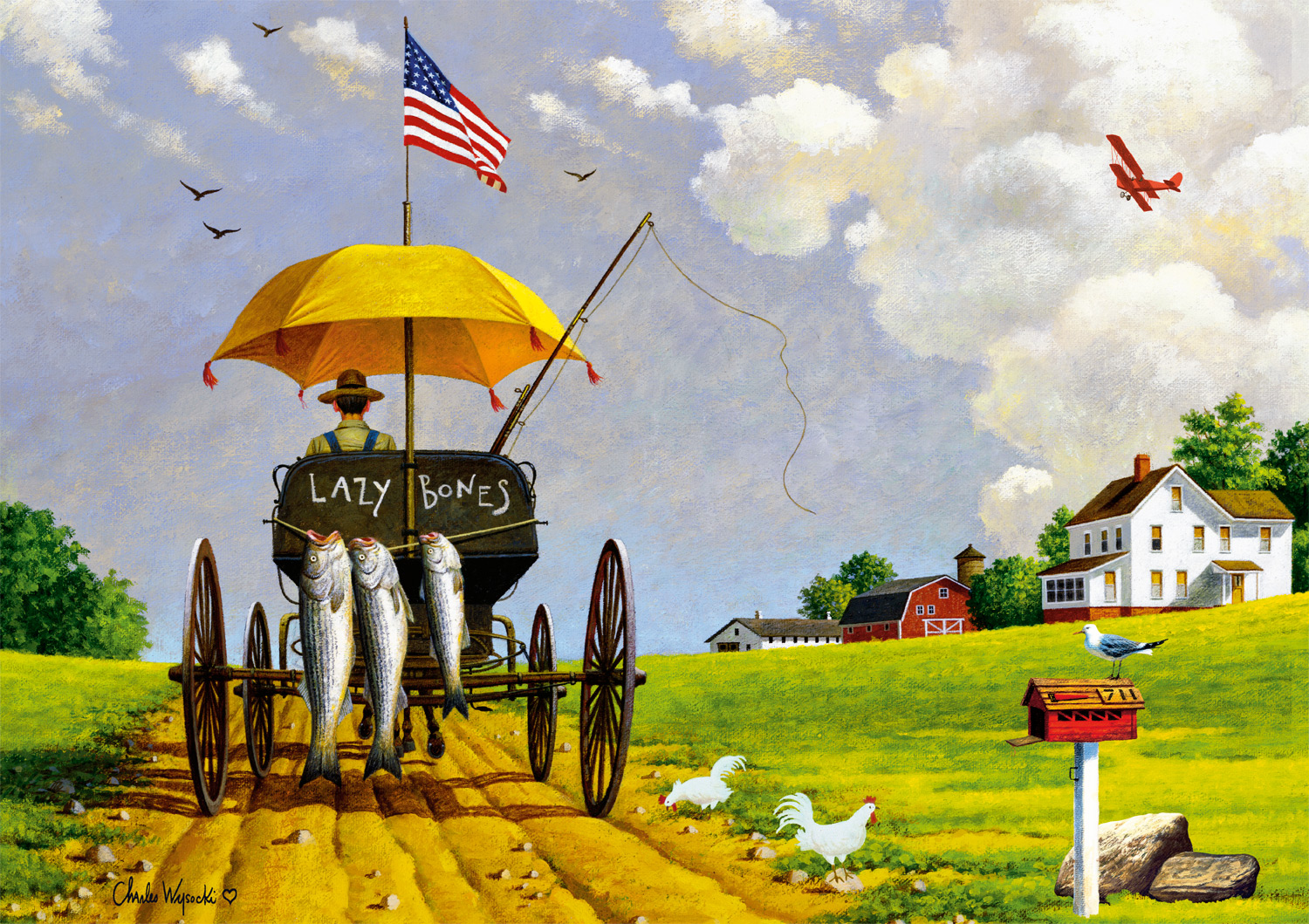 Wait 'Till Martha Sees What I'm Bringing Home Countryside Jigsaw Puzzle