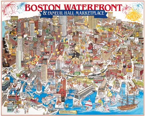 Boston Waterfront Cities Jigsaw Puzzle