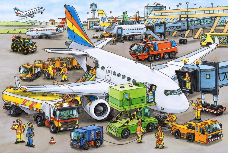 Busy Airport Planes Children's Puzzles