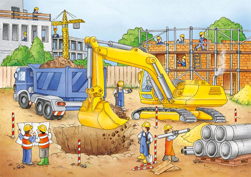 Busy Builders - Scratch and Dent Vehicles Jigsaw Puzzle