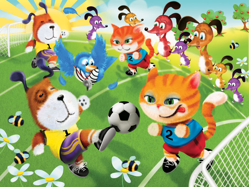 Soccer Fun Other Animals Jigsaw Puzzle