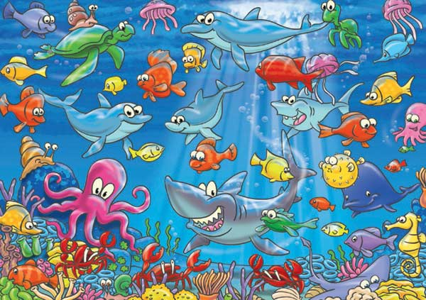 Underwater Adventures Dolphins Jigsaw Puzzle