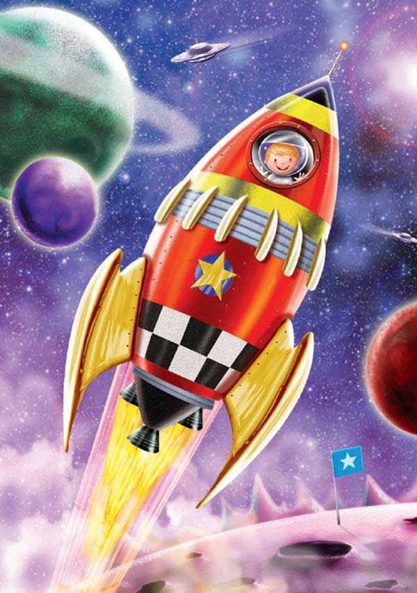 Rocket Boost Space Children's Puzzles