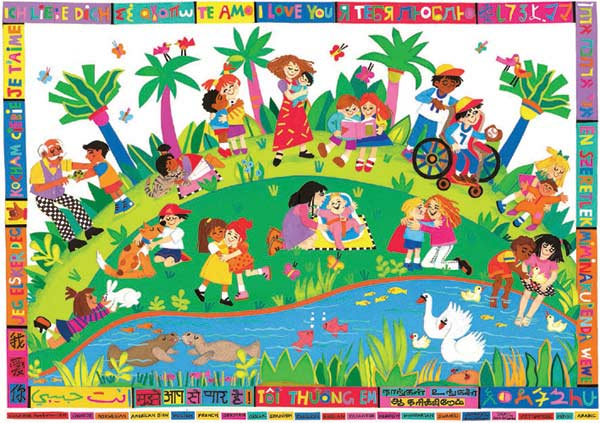 Picnic Party Cartoons Jigsaw Puzzle