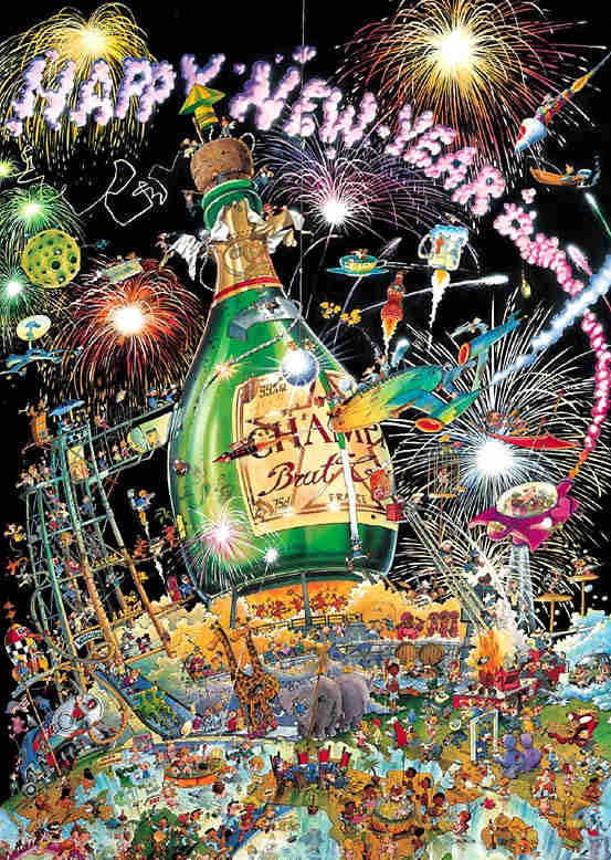Happy New Year Jigsaw Puzzle Puzzlewarehouse Com