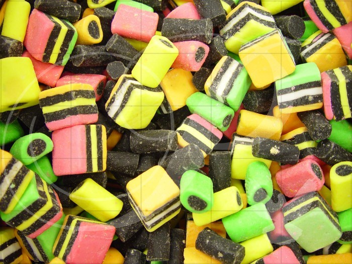 Colorful Licorice Food and Drink Wooden Jigsaw Puzzle