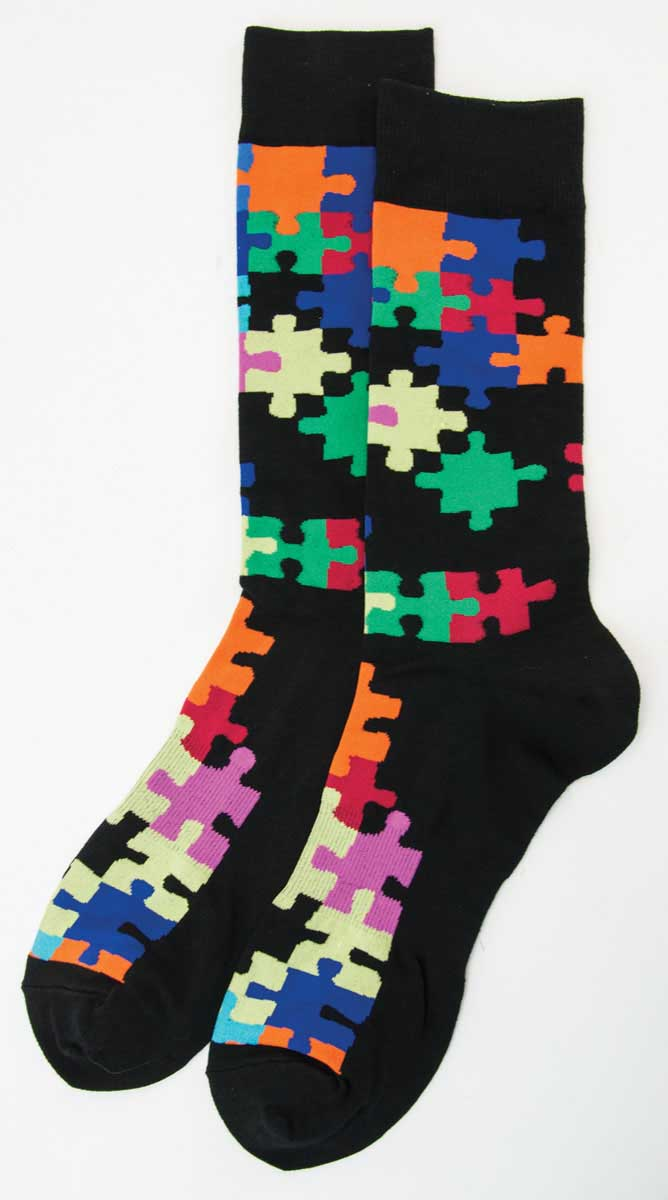 Men's Puzzle Socks - 3 Pair (for Ordering)