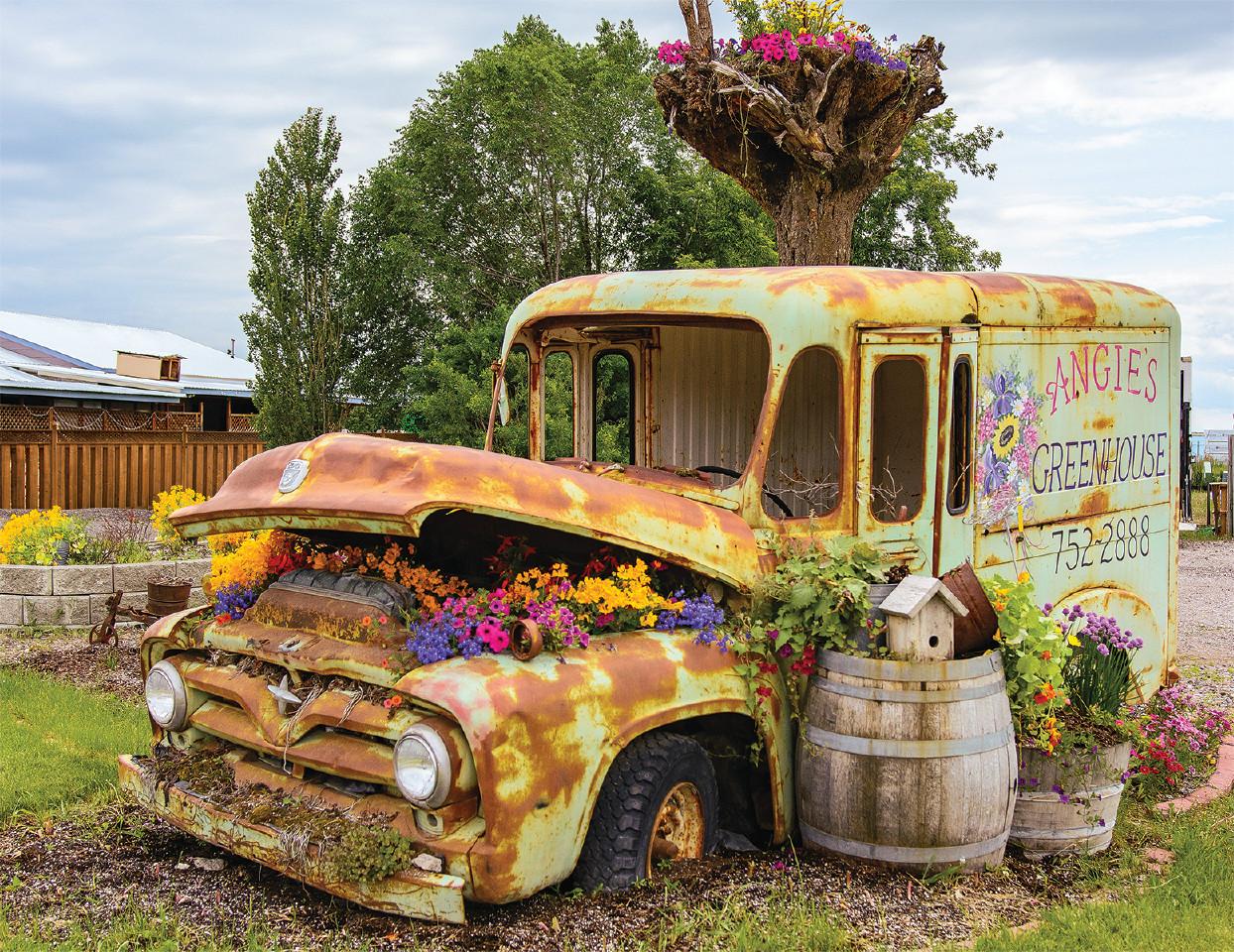 Flower Truck Flowers Jigsaw Puzzle