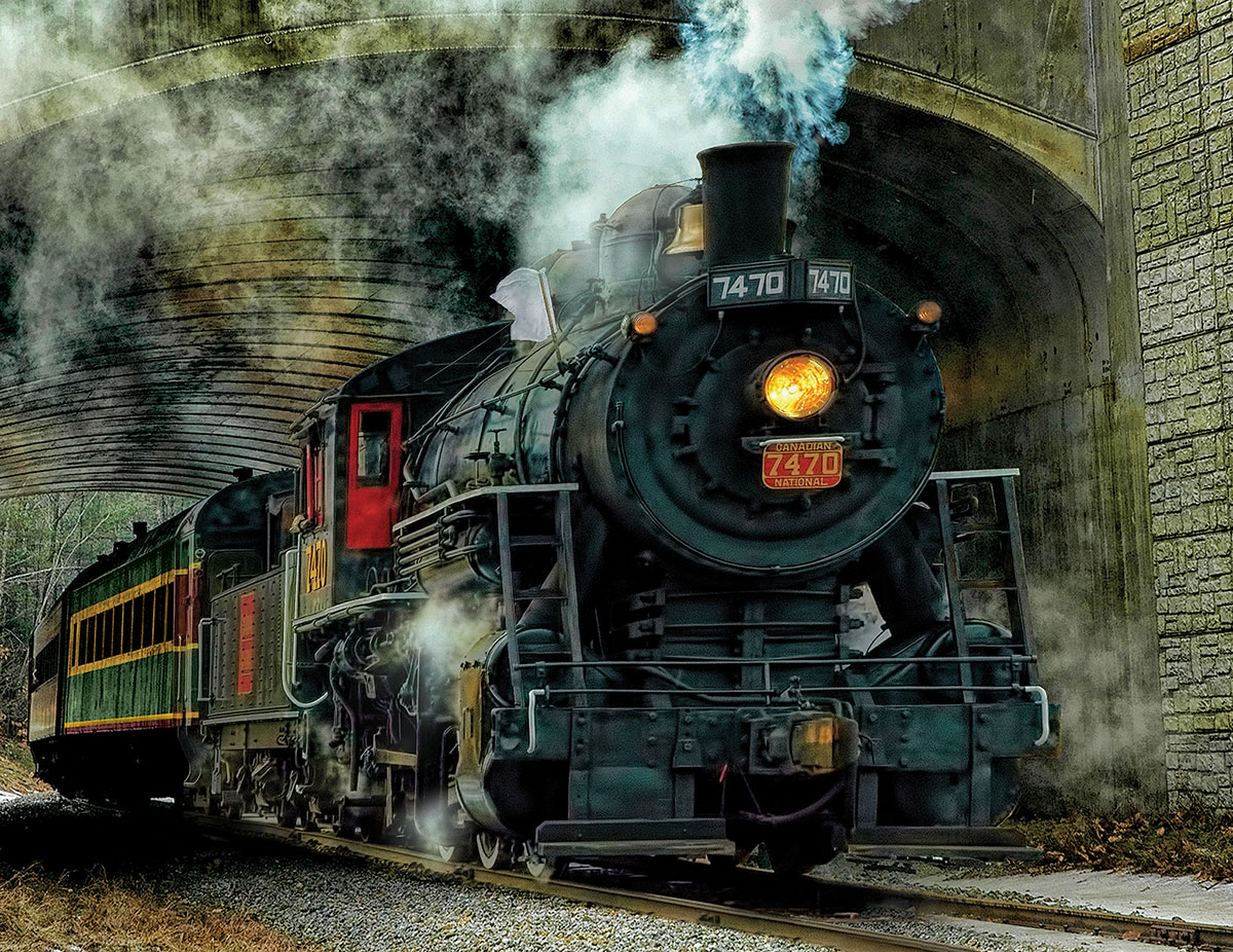 Green Mountain Express Trains Jigsaw Puzzle