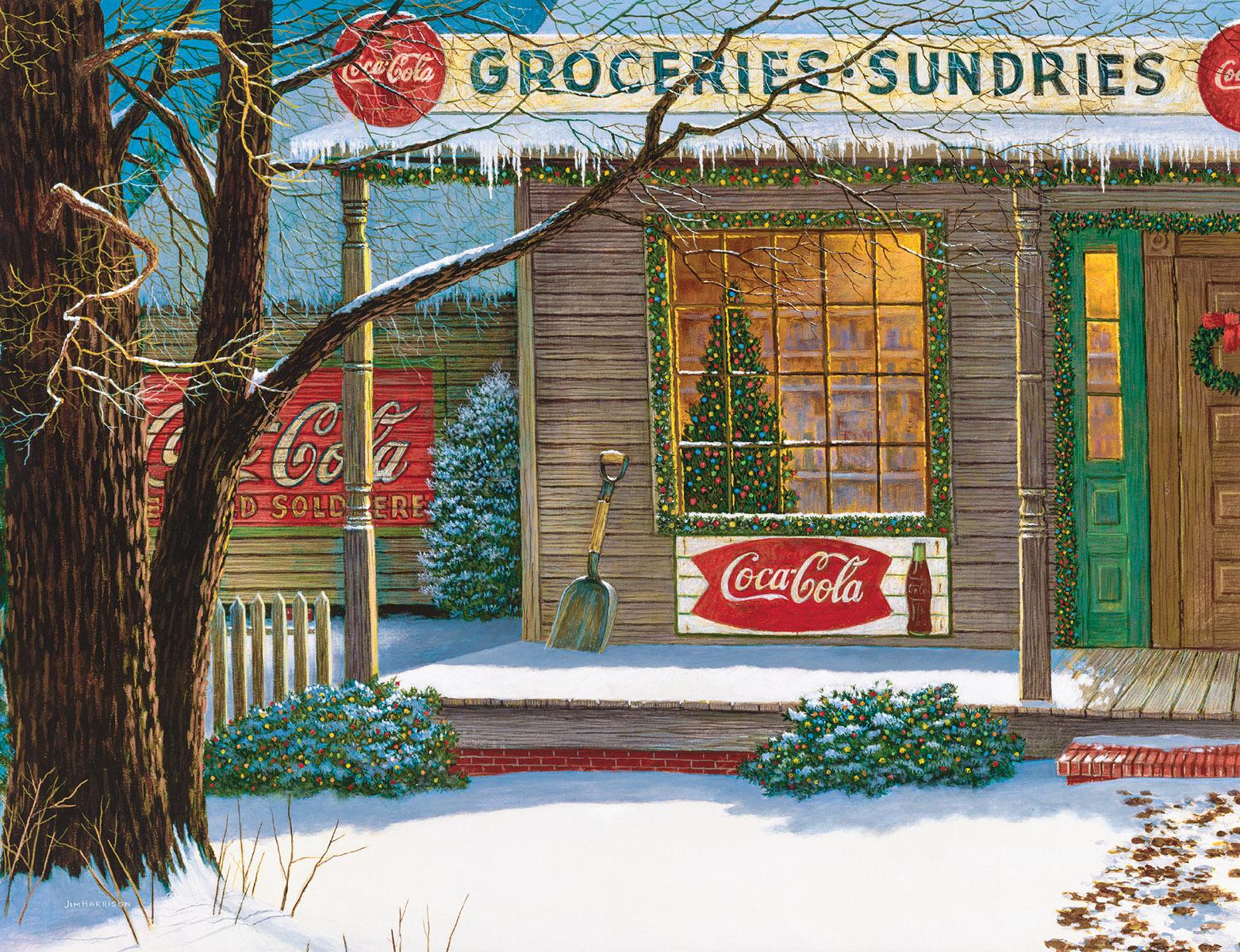 Coca Cola Christmas Store Coca Cola Jigsaw Puzzle