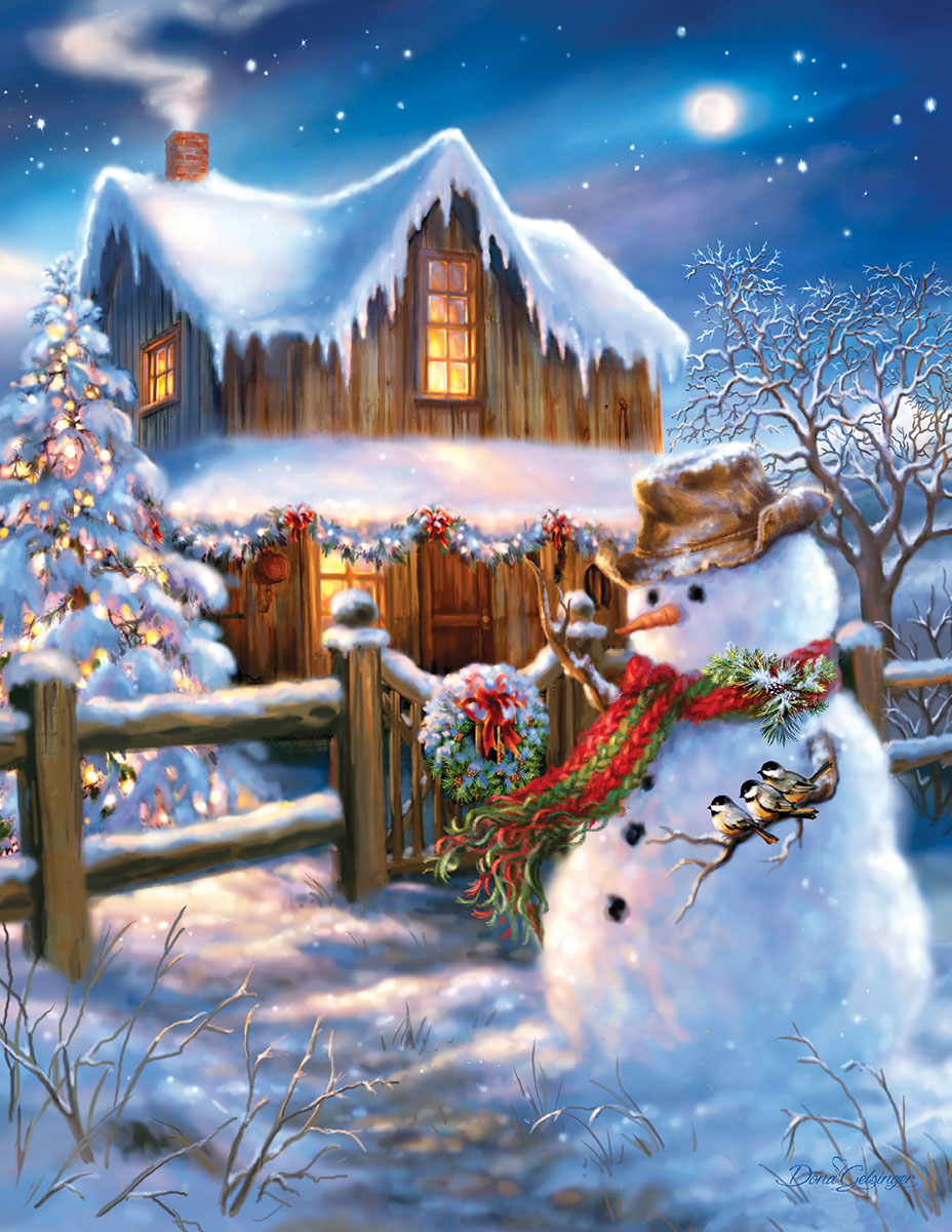 The Country Christmas Winter Jigsaw Puzzle