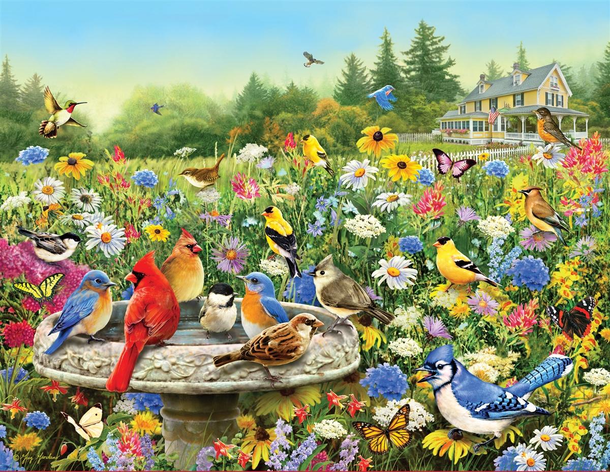 The Gathering Birds Jigsaw Puzzle