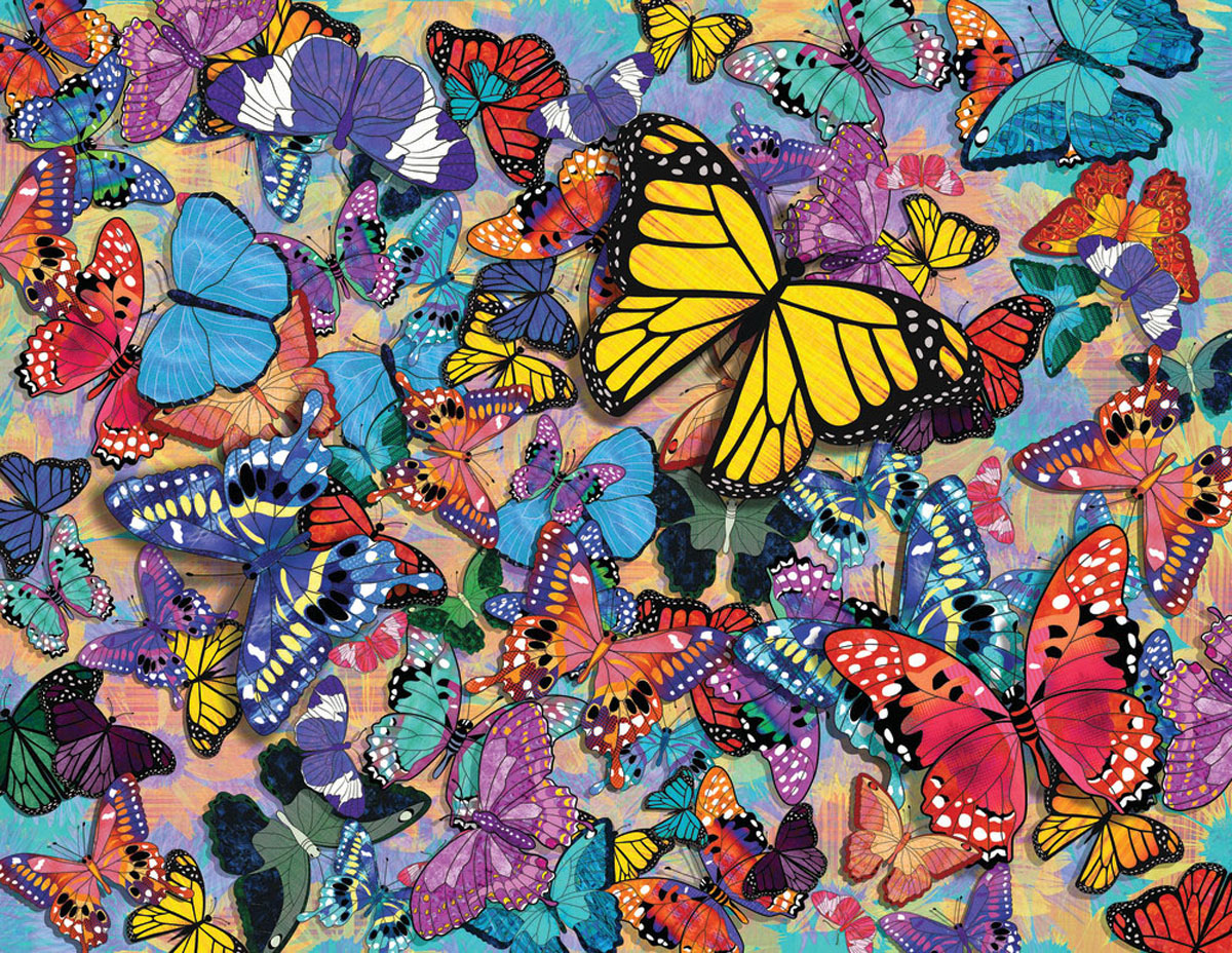 Butterfly Frenzy Butterflies and Insects Jigsaw Puzzle