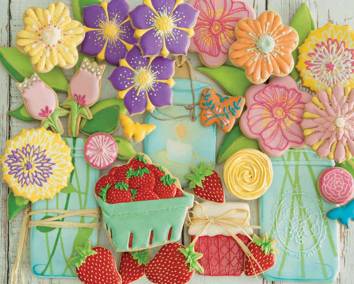 Springtime Cookies Spring Jigsaw Puzzle