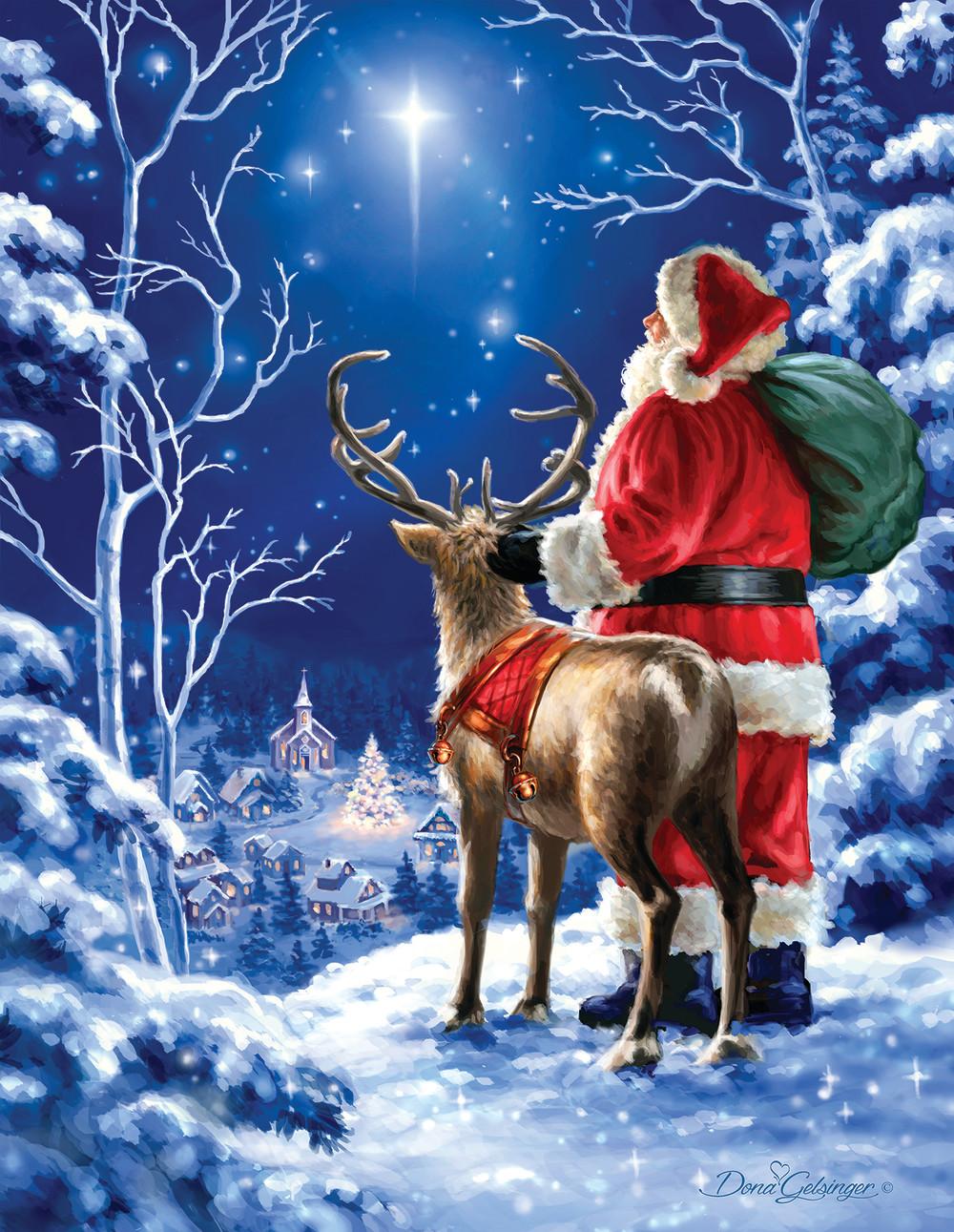Starry Night Christmas Jigsaw Puzzle