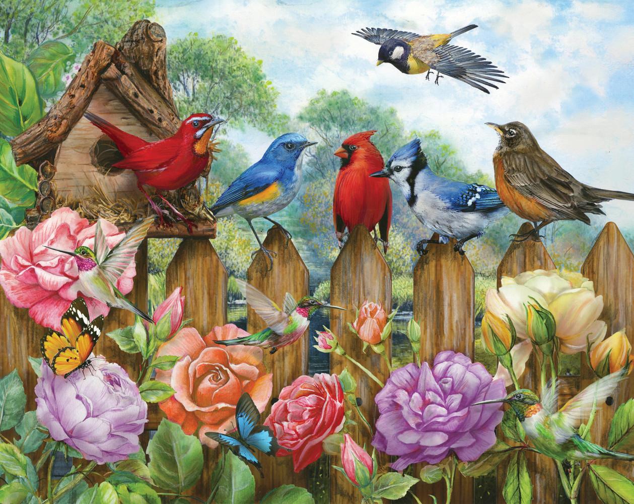 Morning Serenade Birds Jigsaw Puzzle