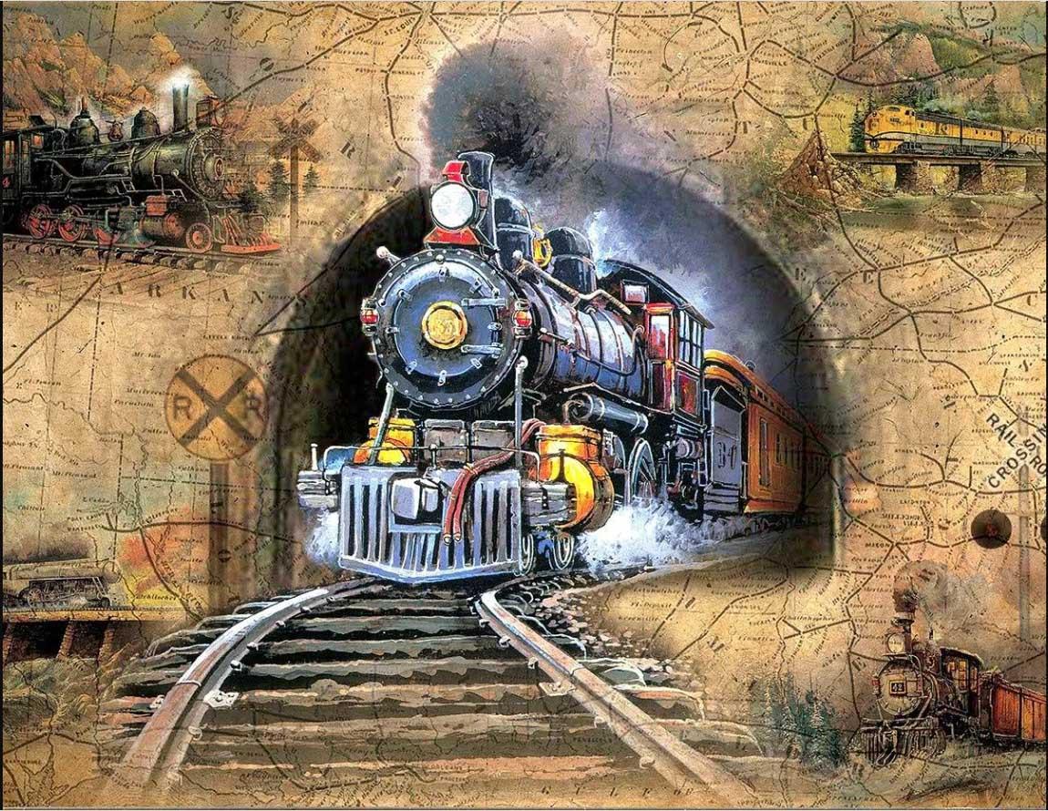Full Speed Ahead! Trains Jigsaw Puzzle