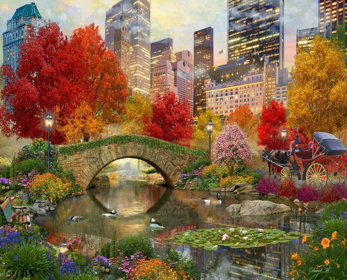 Central Park Paradise Landmarks / Monuments Jigsaw Puzzle