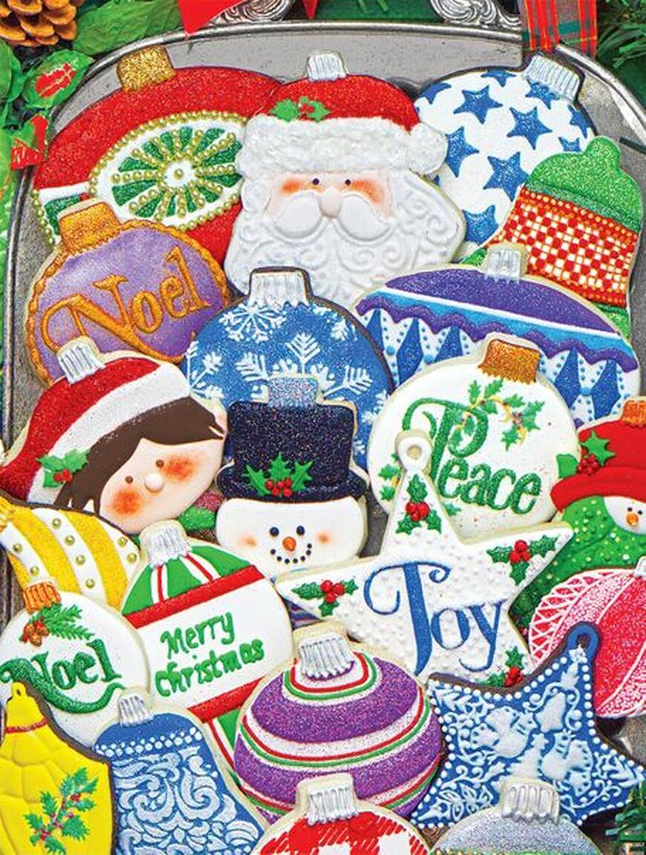 Christmas Ornament Cookies Christmas Jigsaw Puzzle