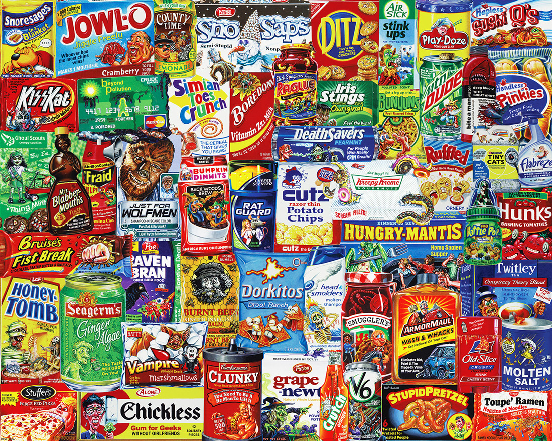 Looney Labels Food and Drink Jigsaw Puzzle
