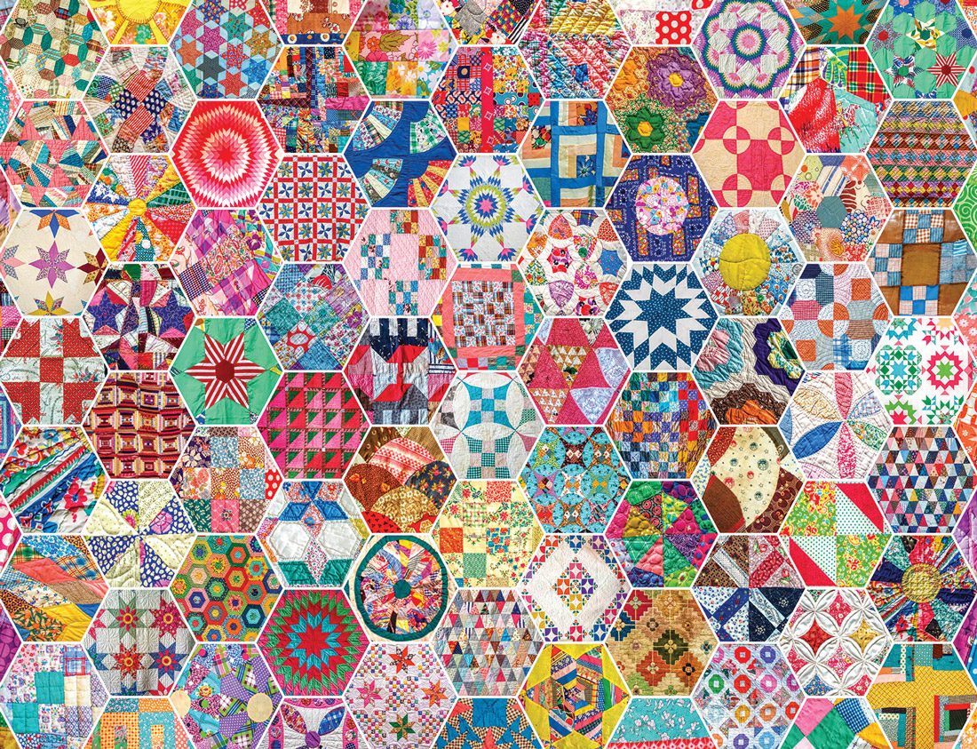 Crazy Quilts Everyday Objects Jigsaw Puzzle