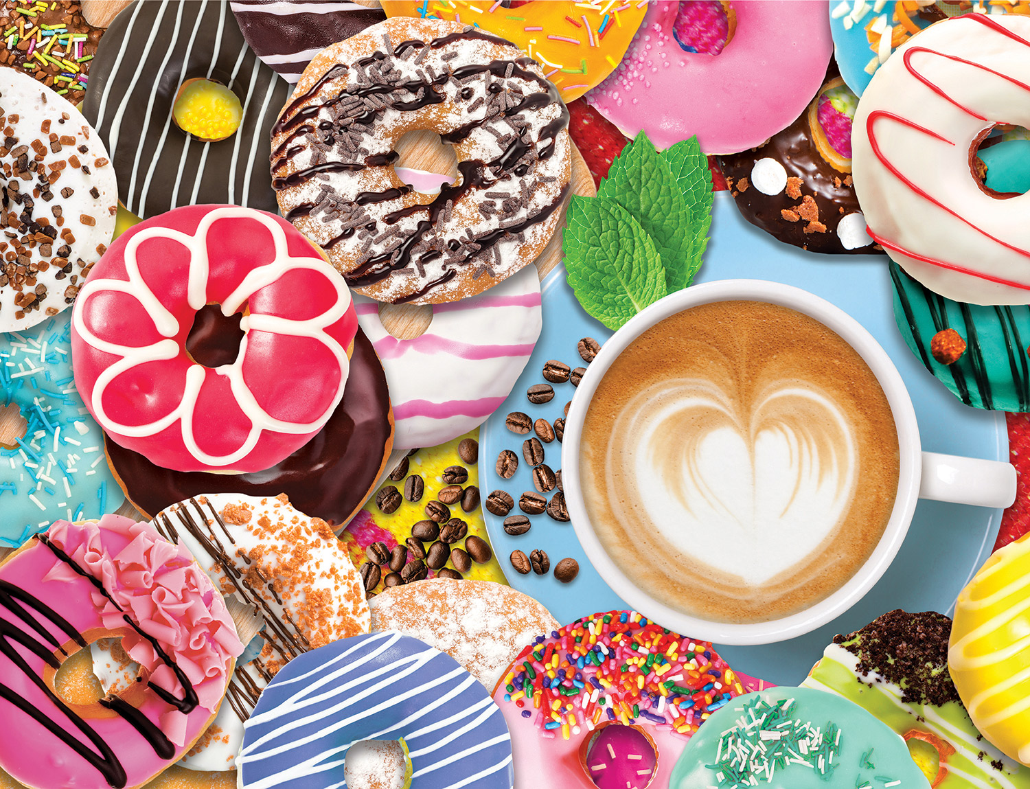 Donuts N' Coffee Food and Drink Jigsaw Puzzle