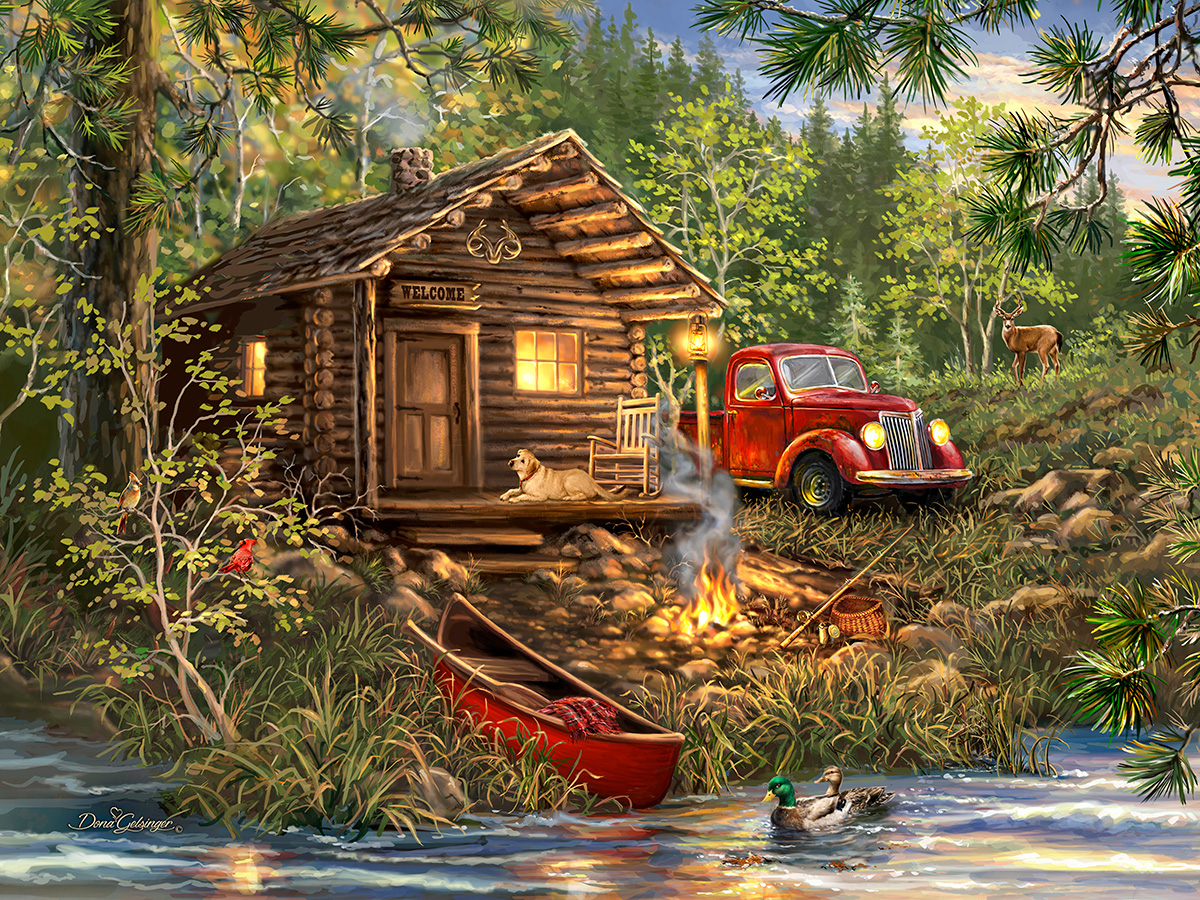 Cozy Cabin Life Outdoors Jigsaw Puzzle
