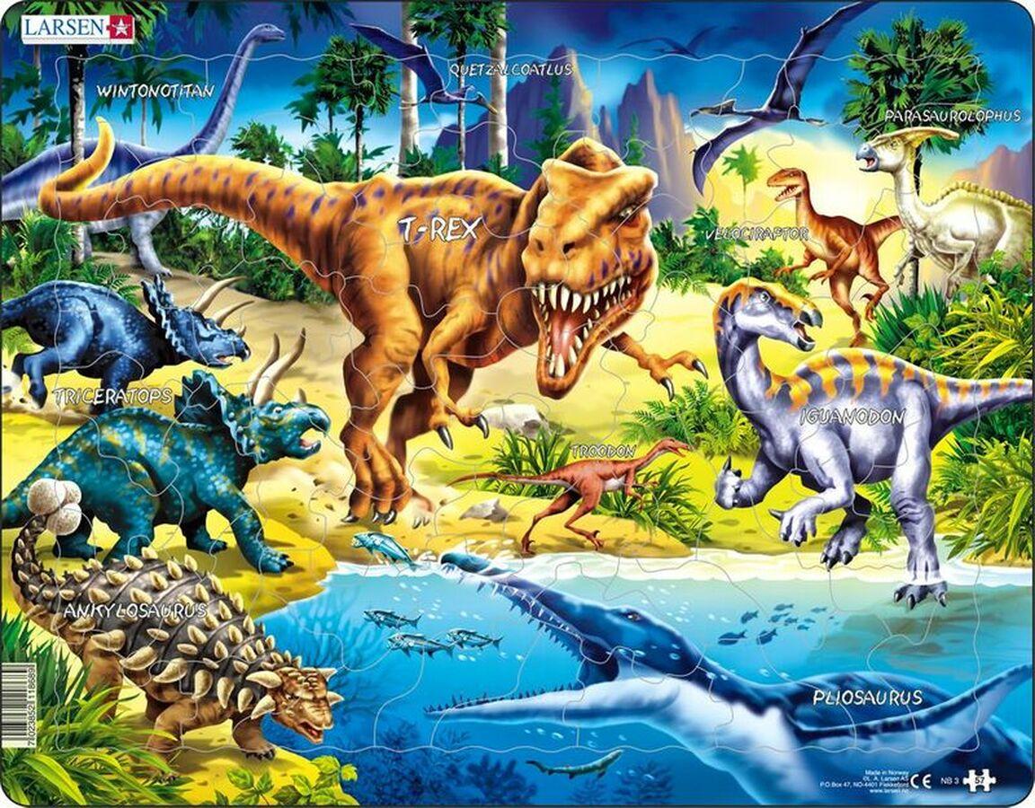 Cretaceous Dinosaurs Dinosaurs Tray Puzzle