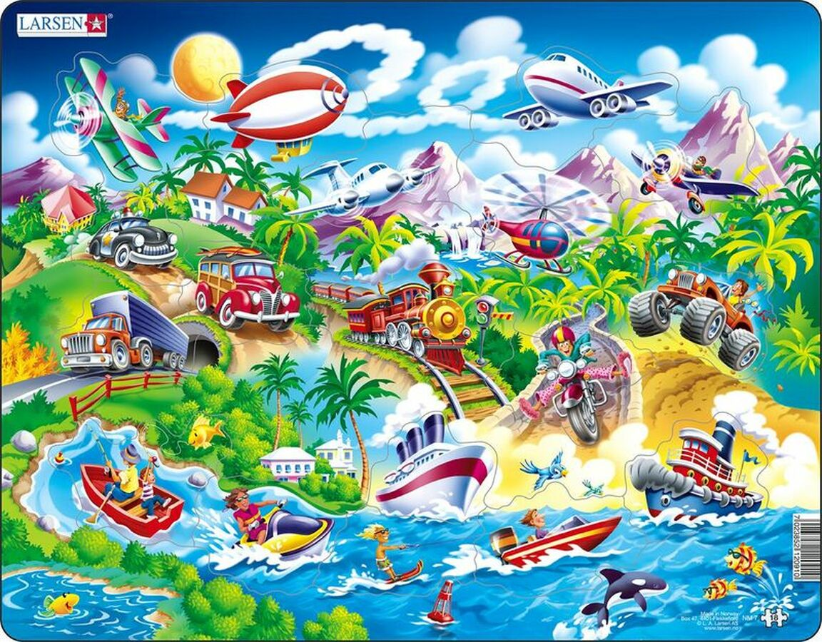 Cars Boats Trains and Airplanes Planes Children's Puzzles