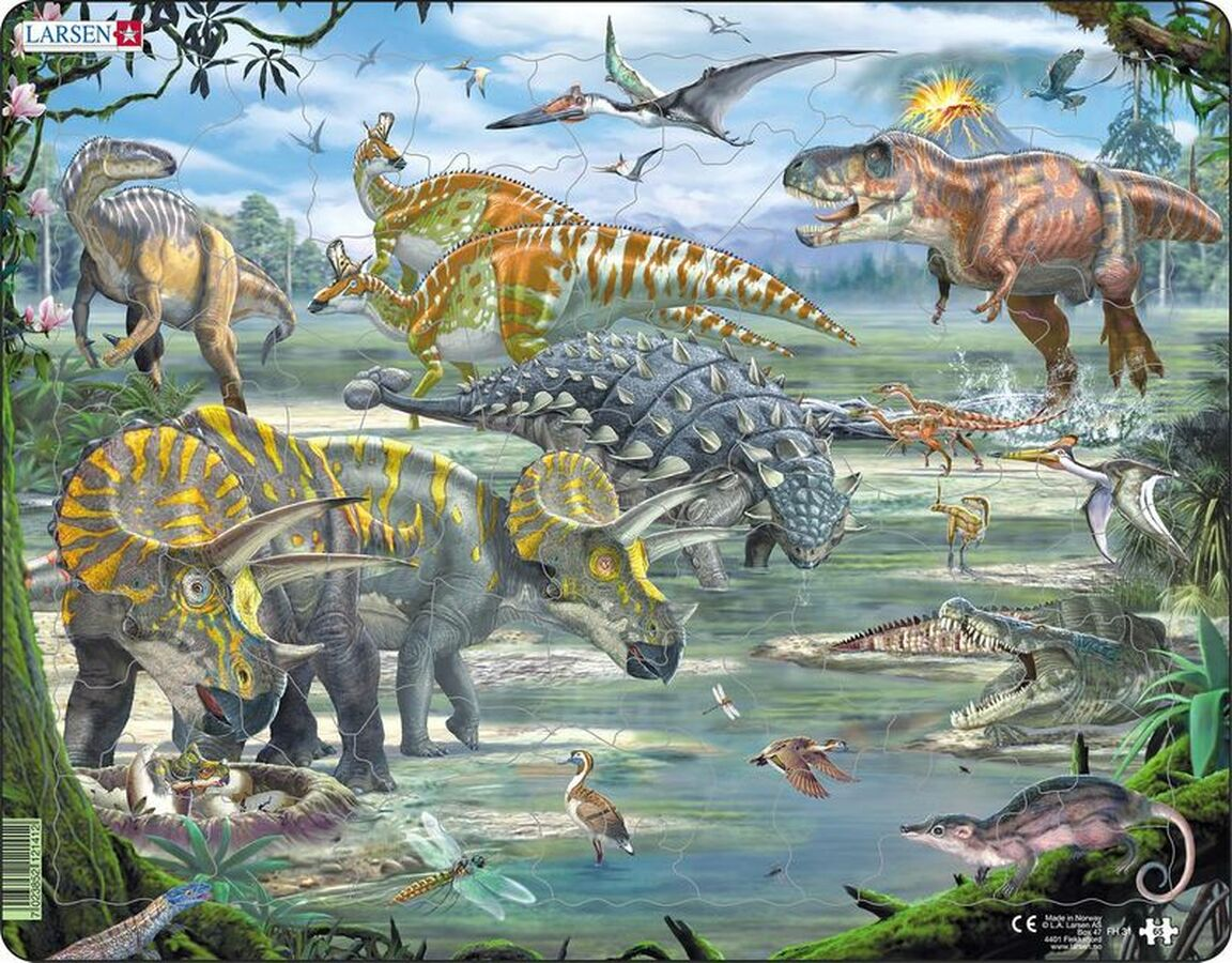Dinosaurs Dinosaurs Tray Puzzle