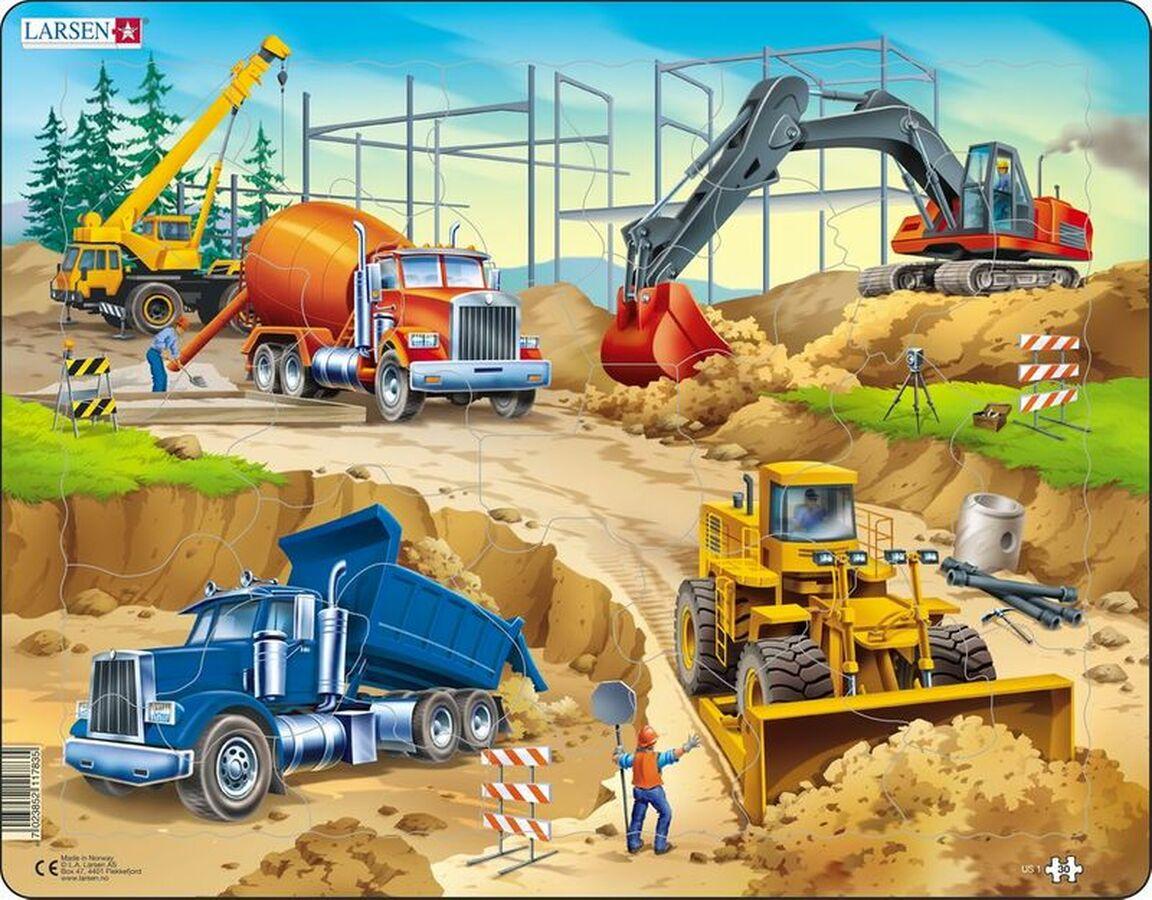 Construction Puzzle Vehicles Children's Puzzles