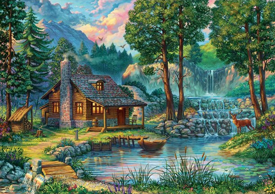 Fairytale House Lakes / Rivers / Streams Jigsaw Puzzle