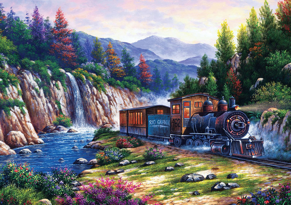 Travelling By Train Mountains Jigsaw Puzzle