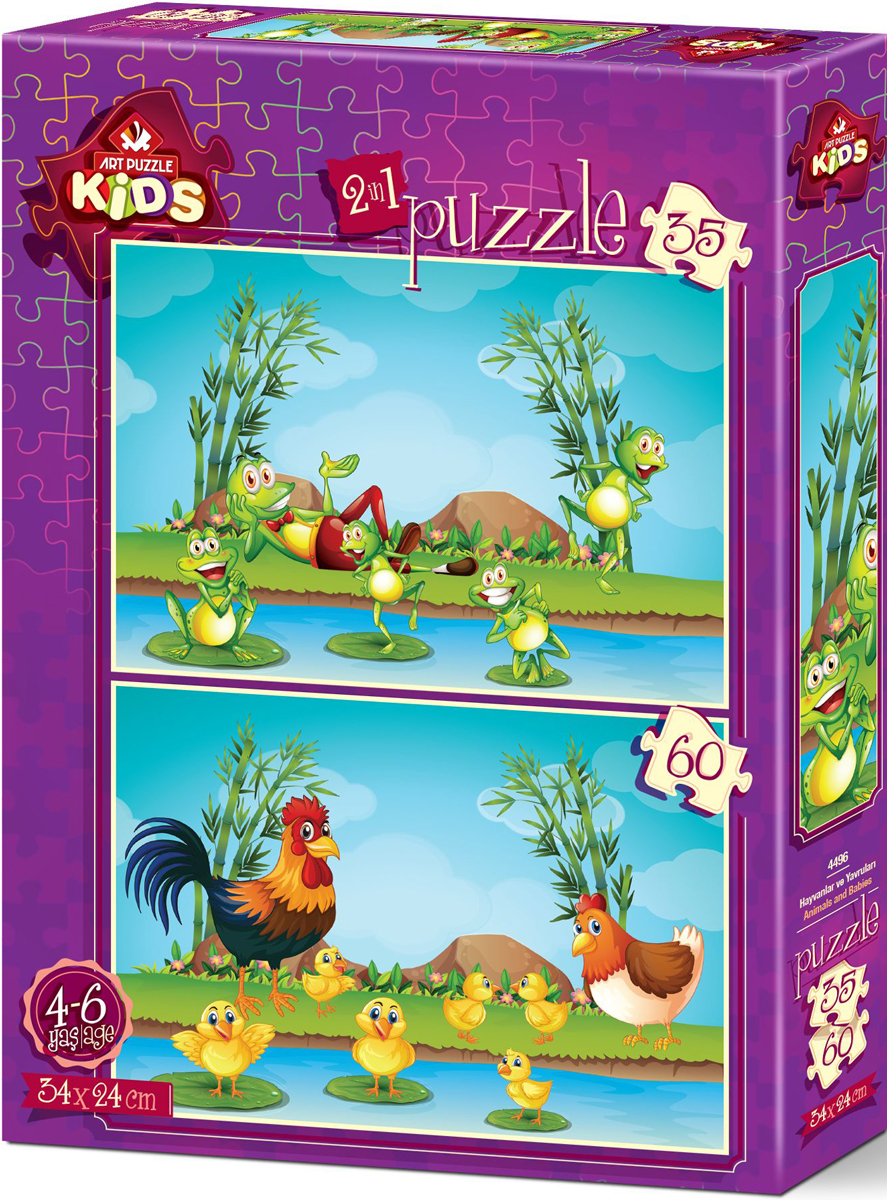 Animals And Babies Animals Jigsaw Puzzle