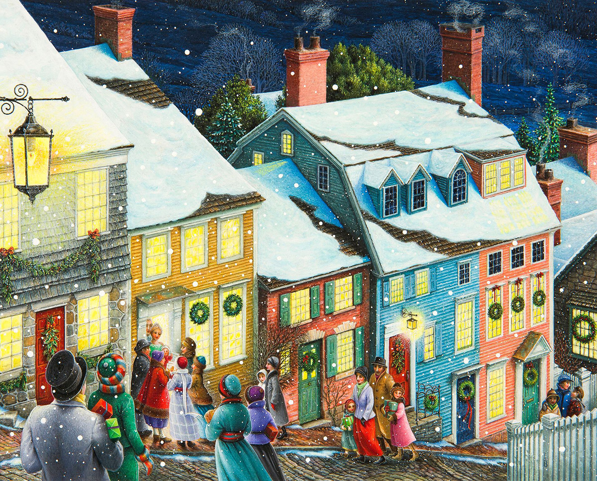 Christmas Carolers Winter Jigsaw Puzzle