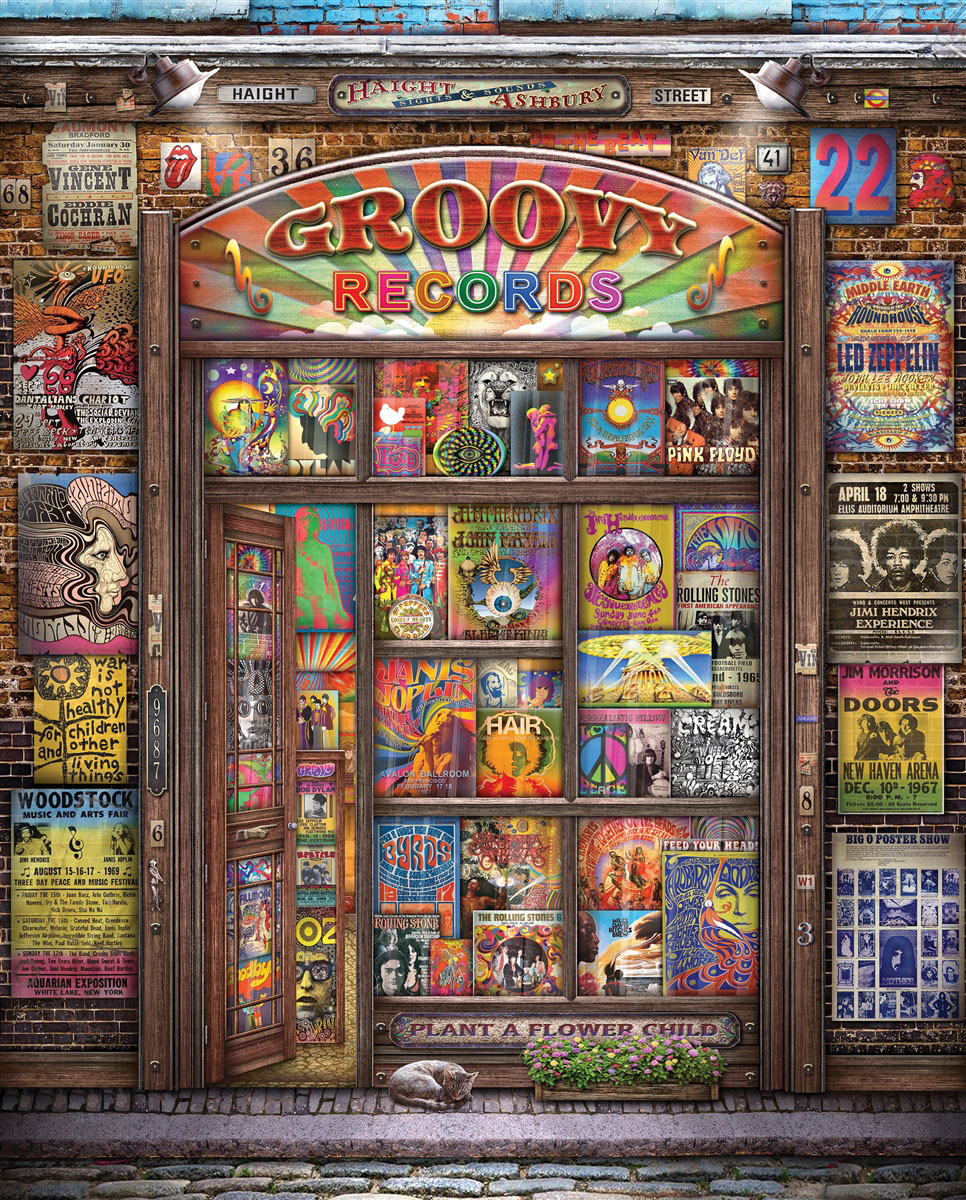 Groovy Records Music Jigsaw Puzzle