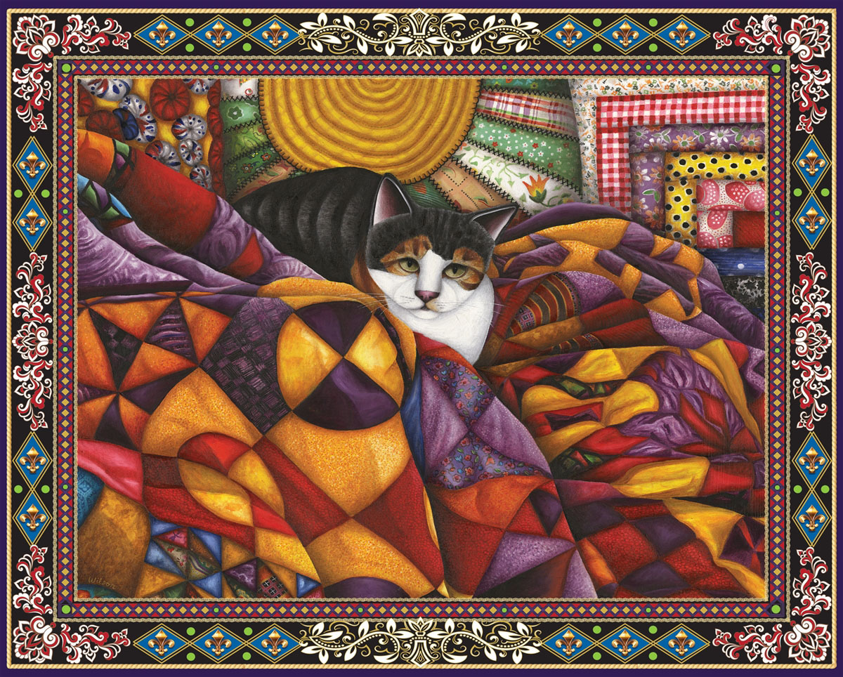 Quilted Cat Cats Jigsaw Puzzle