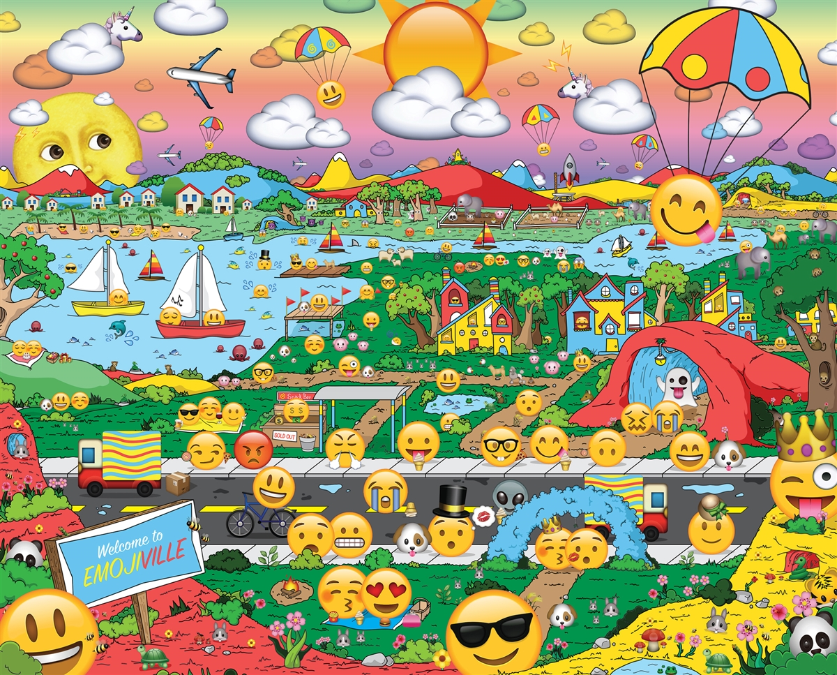 Emojiville Cartoons Jigsaw Puzzle