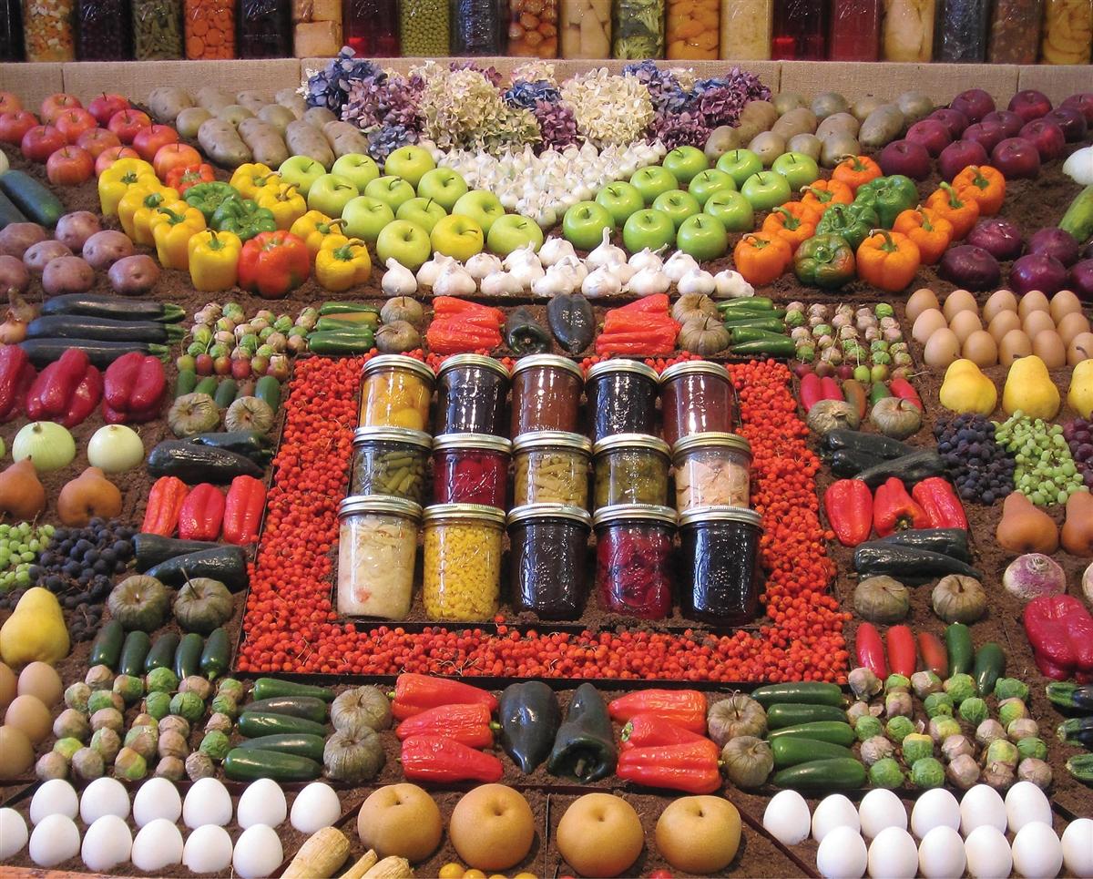 Farm Fresh Food and Drink Jigsaw Puzzle
