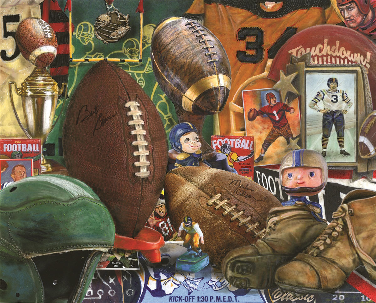 Vintage Football Sports Jigsaw Puzzle