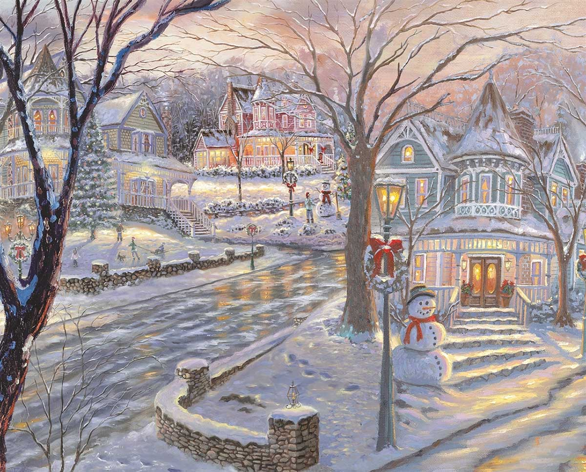 Cold Winter's Night Winter Jigsaw Puzzle
