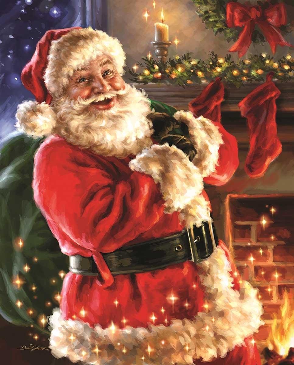 Twas The Night Before Christmas Santa Jigsaw Puzzle